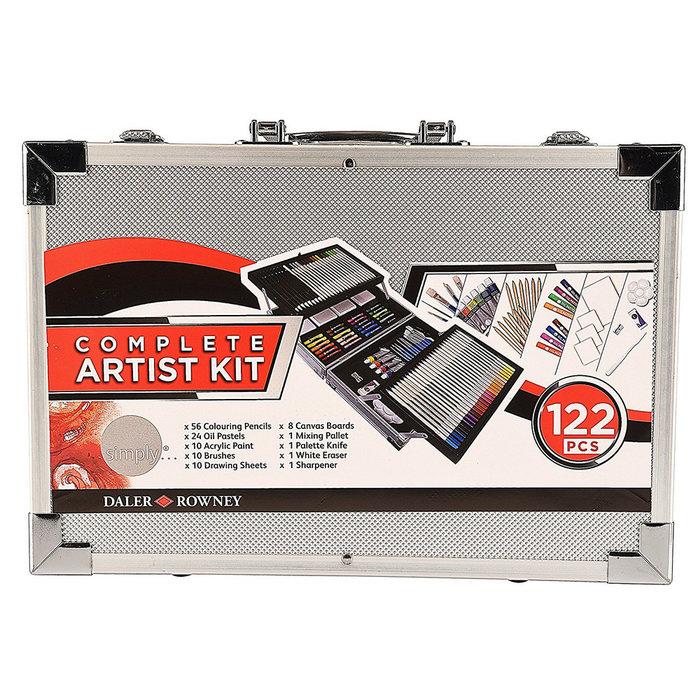 Set de arte essential 122 pzas maletin aluminio