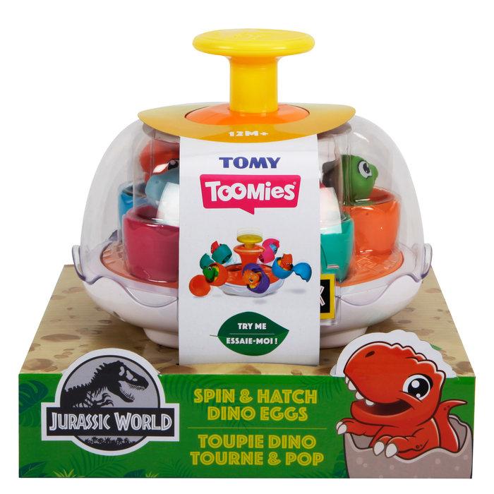 Tomy toomies jurassic park huevos dinosaurio gira & incuba