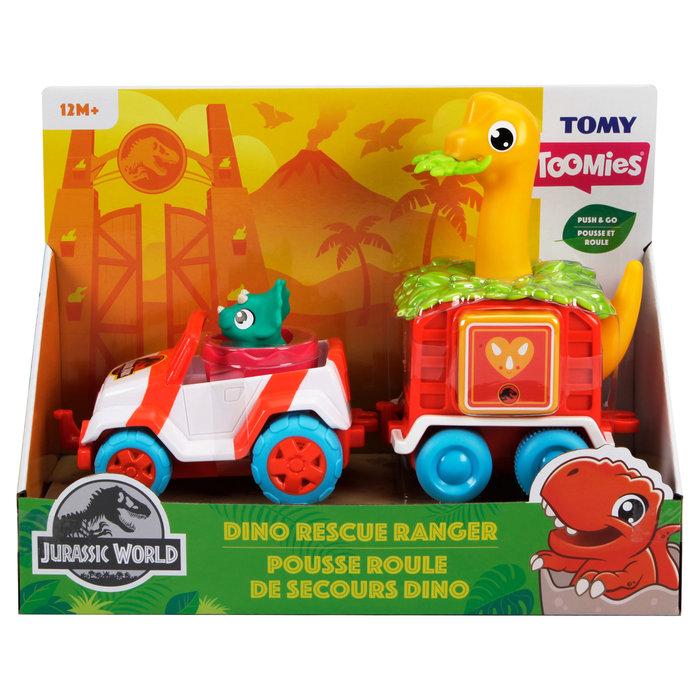 Tomy toomies jurassic park guarda for. rescata dinosaurios
