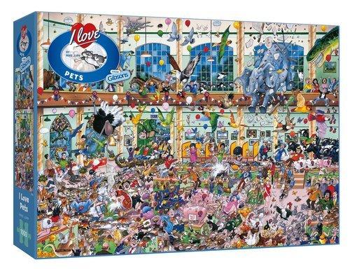 Puzzle i love mascotas 1000 piezas