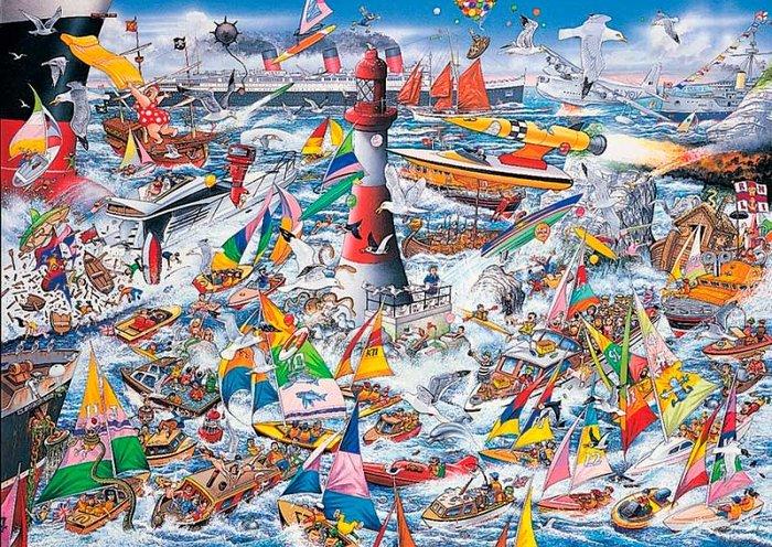 Puzzle i love barcos 1000 piezas