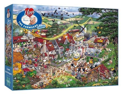 Puzzle i love la granja 1000 piezas