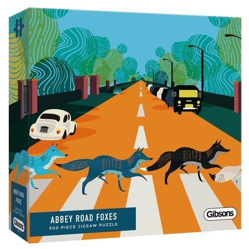 Puzzle zorros en abbey road 500 piezas