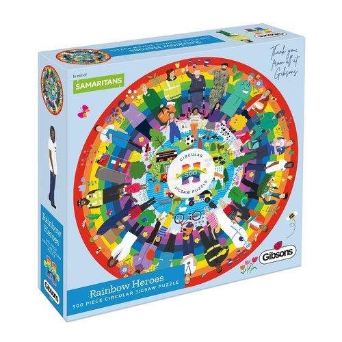 Puzzle circular heroes del arco iris 500 piezas
