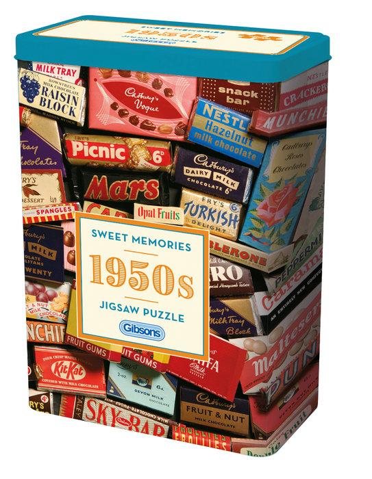 Puzzle 500 p caja lata dulces memorias de los aÑos 50