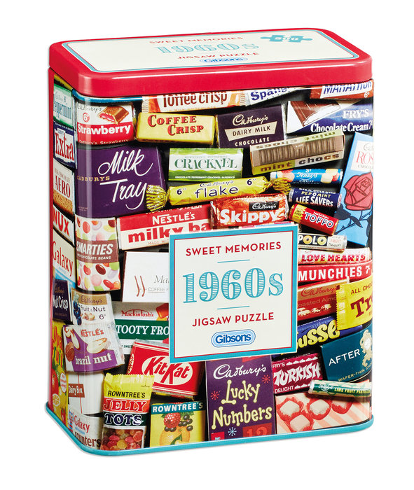 Puzzle 500 p caja lata dulces memorias de los aÑos 60