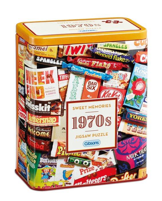Puzzle 500 p caja de lata dulces memorias de los aÑos 70
