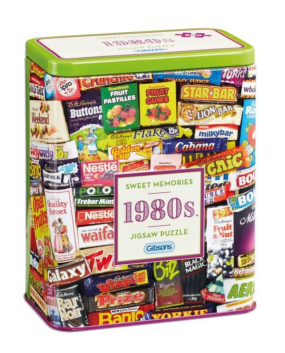 Puzzle 500 p caja lata dulces memorias de los años 80