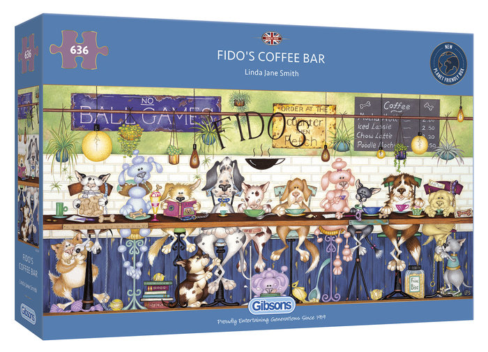 Puzzle gibson fido´s coffee bar 636 pzas