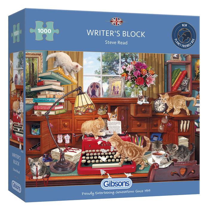 Puzzle gibson bloqueando la escritura 1000 pzas