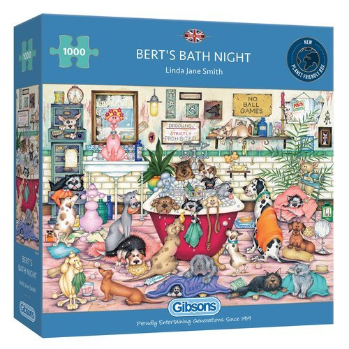 Puzzle baÑo nocturno en casa de los bert 1000 piezas