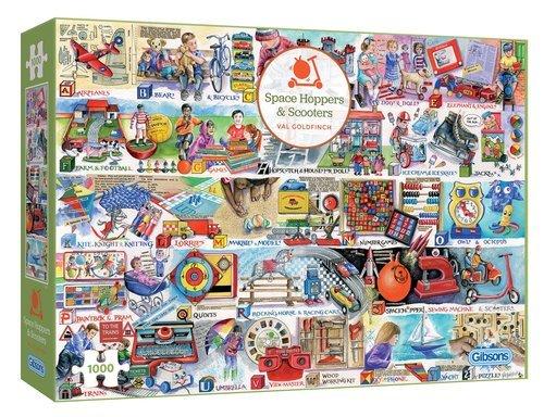 Puzzle scooters y juguetes clasicos 1000 piezas