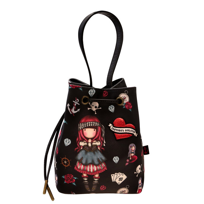 Saco bolso pequeño gorjuss negro rojo