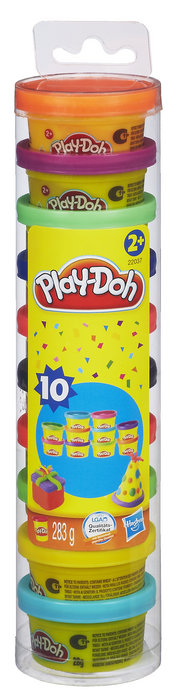 Juego play-doh tubo plastifiesta c/10unids