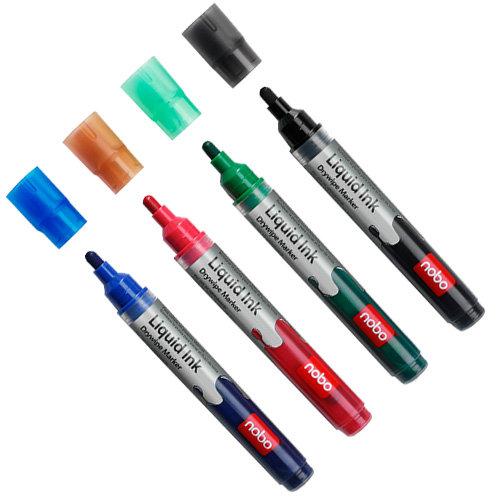 Rotuladores borrado en seco liquid ink rojos (12) rojo
