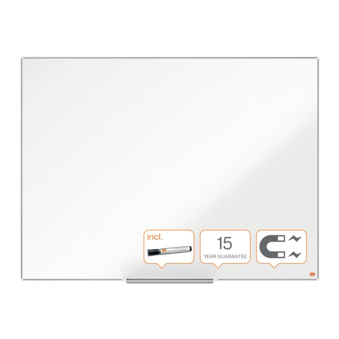 Pizarra blanca nobo 1200x900mm impression pro acero lacado