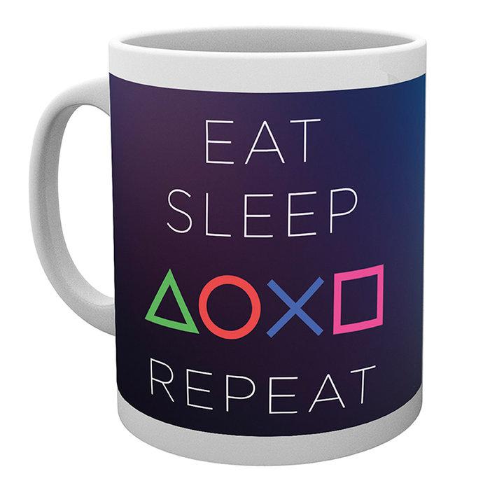Taza 320 ml playstation eat sleep repeat
