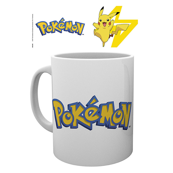 Taza 320 ml pokemon logo & pikachu