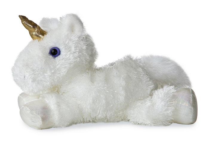 Peluche mf unicornio blanco 21 cm