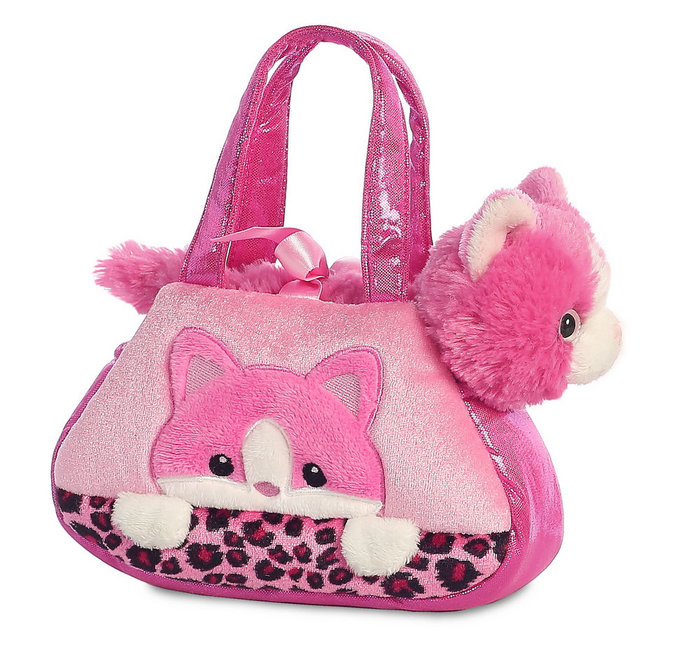 Peluche fp bolso rosa gato rosa bordado 21 cm