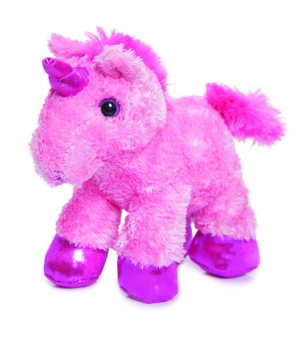 Peluche 21cm unicornio rosa