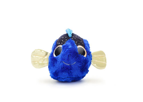 Peluche yoohoo 20cm ojos brillantes pez azul