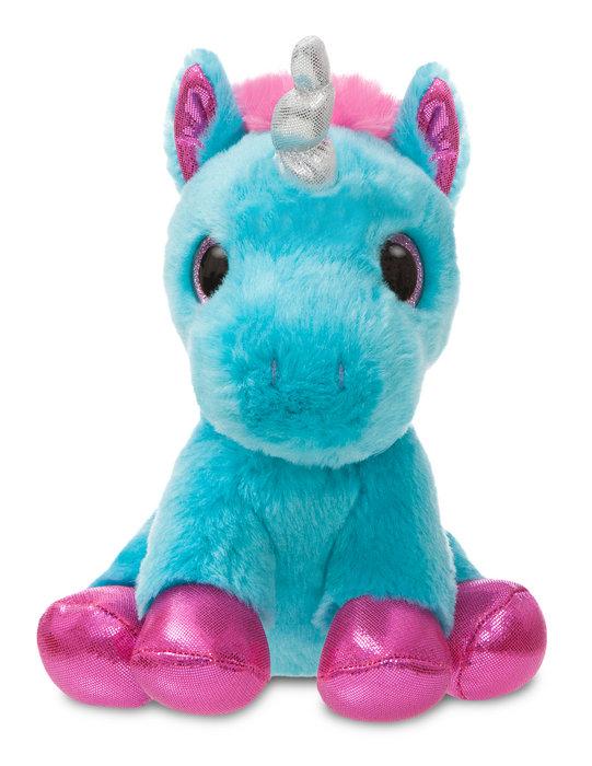 Peluche st unicornio turquesa 18cm