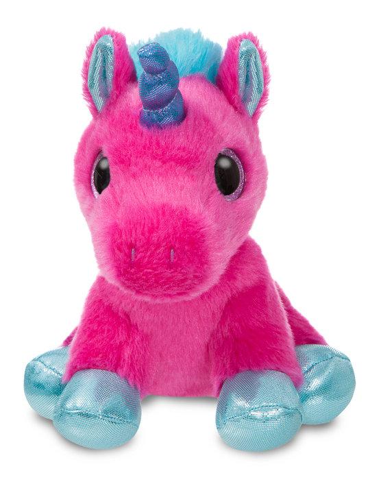 Peluche st unicornio rosa fuerte 18cm