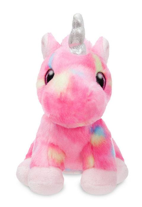 Peluche st unicornio rosa y multicolor 18cm