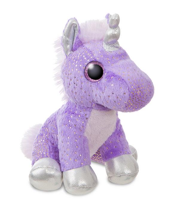 Peluche st unicornio malva 18cm