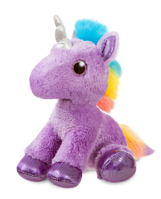 Peluche st unicornio malva y multicolor 31cm