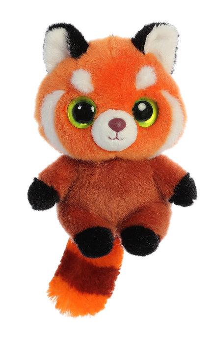 Peluche hapee panda rojo 13 cm