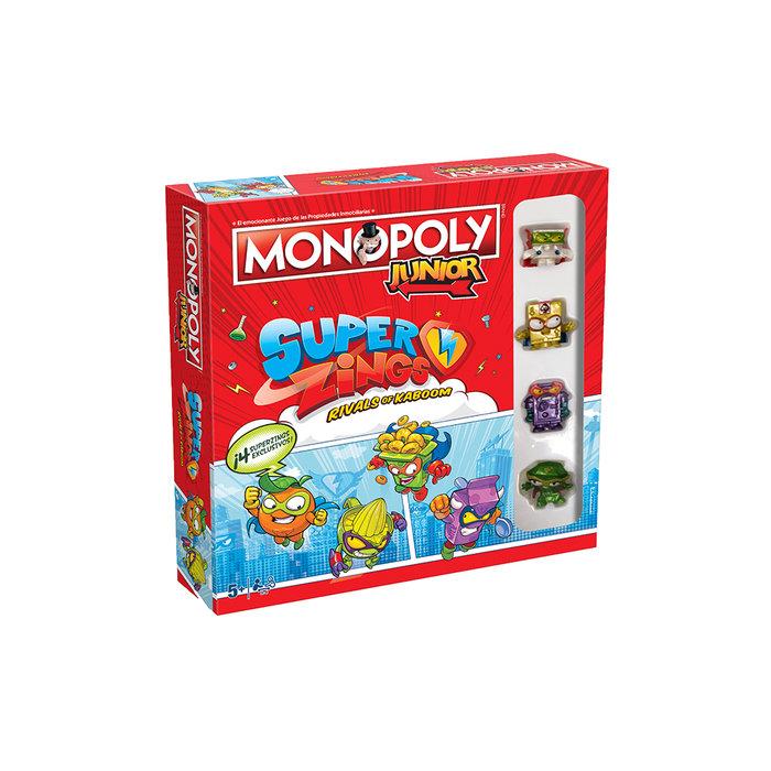 Juego de mesa monopoly junior superzings