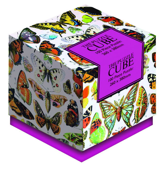 Puzle cubo mariposas vintage 100 p