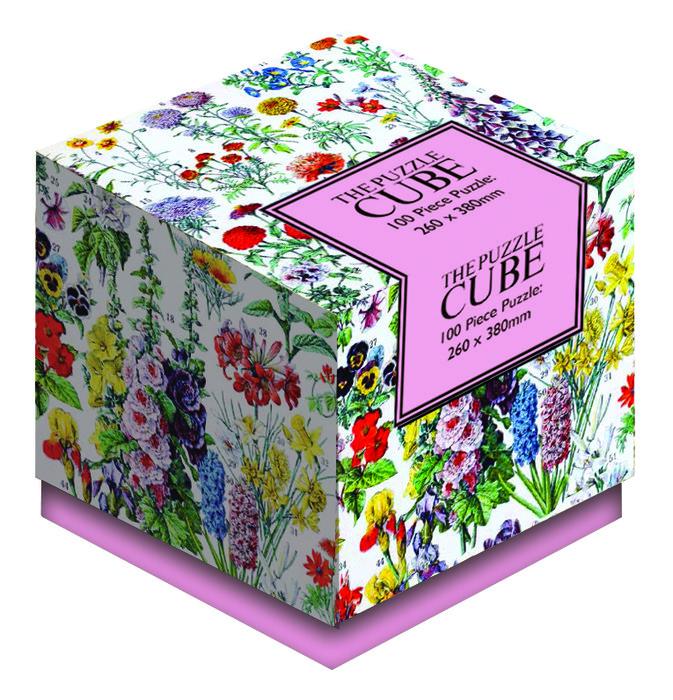 Puzle cubo flores vintage 100p