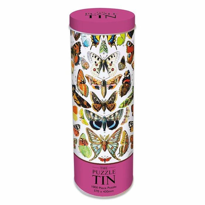 Puzle en lata- mariposas 1000p