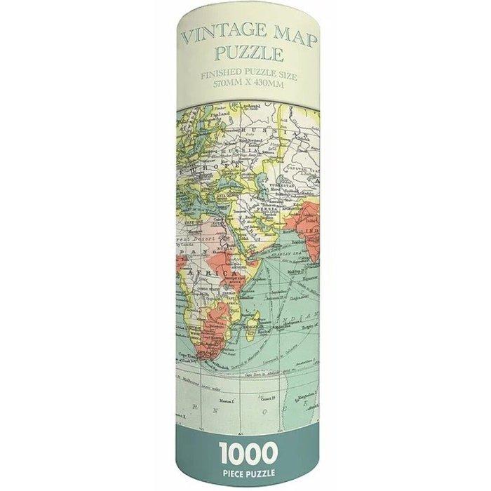 Puzle en tubo- mapa vintage 1000p