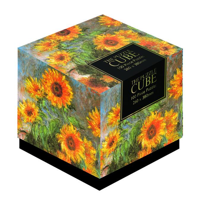 Puzzle cubo monet girasoles 100 piezas