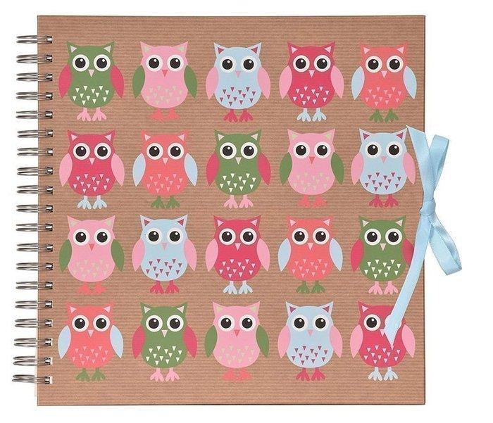 Scrapbook album foto 10 x 15 cm 25 bolsillos owls