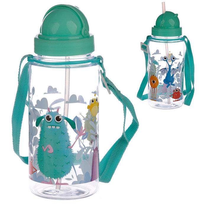 Botella agua infantil  monstruos 450 ml