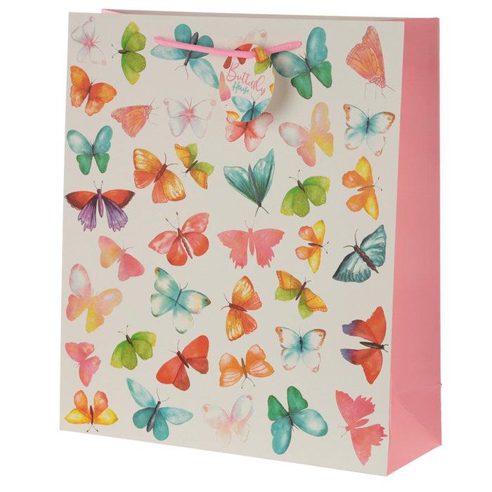 Bolsa regalo decorada mariposa
