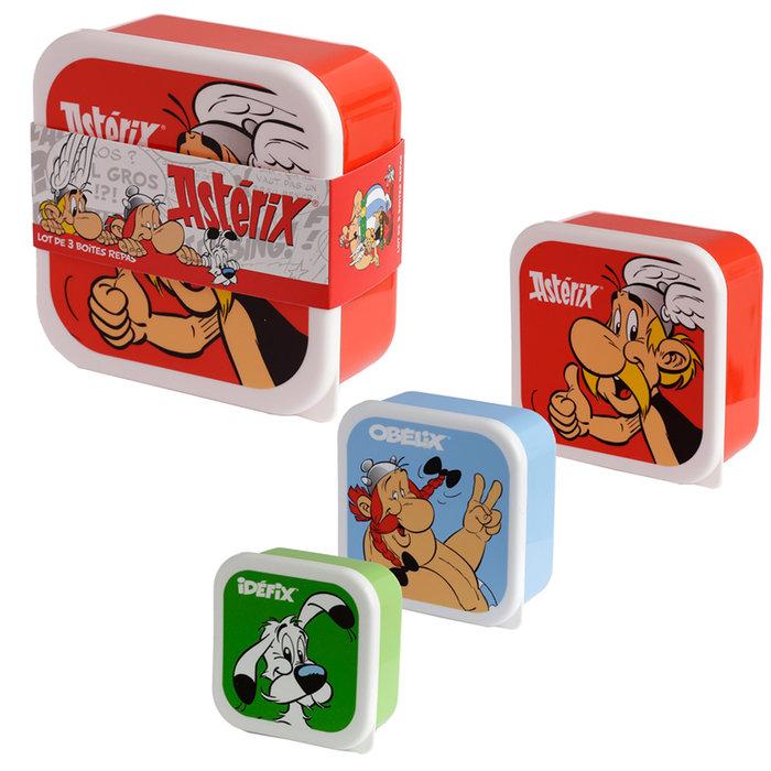 Set de tres tuppers asterix y obleix