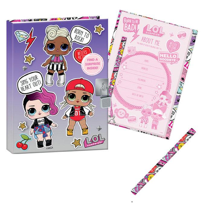 Cuaderno con candado lol born to rock