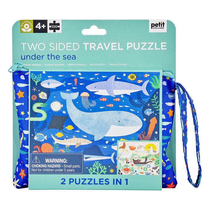 Puzzle 2 en 1 bajo el agua + bolsita transporte