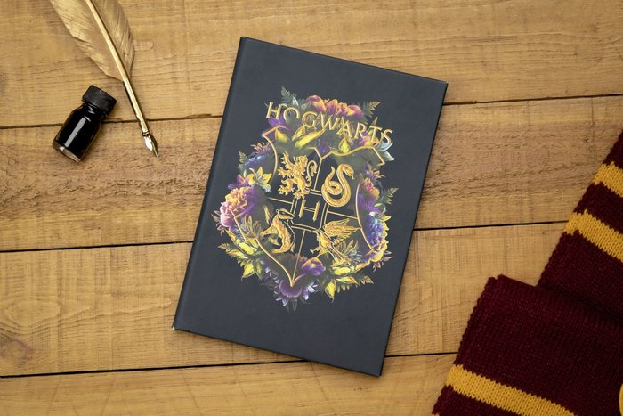 Cuaderno harry potter hogwarts floral
