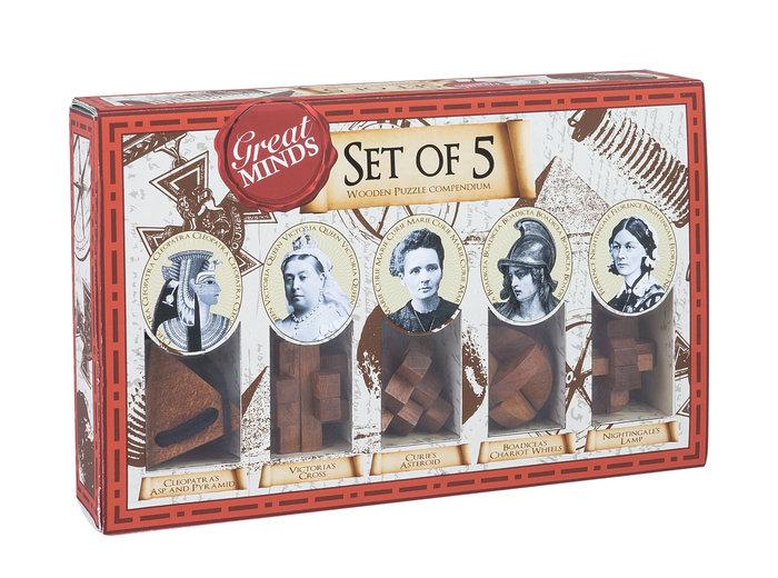 Set 5 rompecabezas mujeres grandes mentes