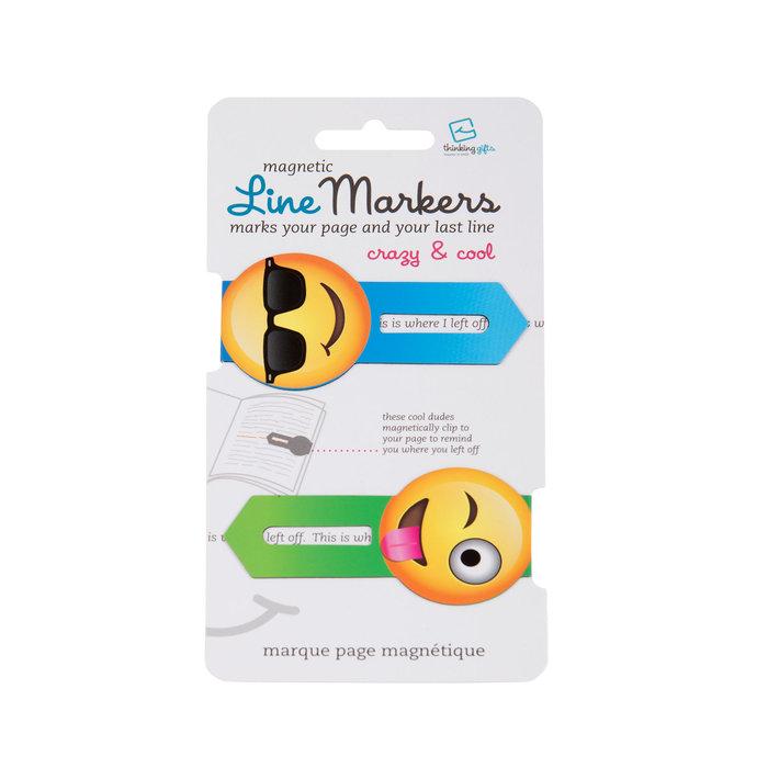 Marcapaginas linemarkers crazy & cool