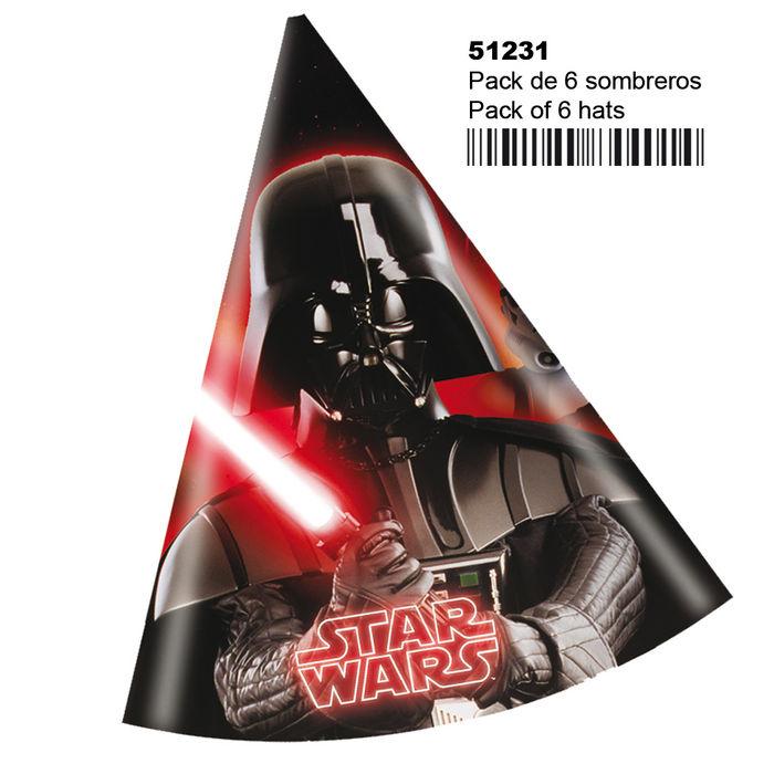 Pack 6 gorros star wars y heroes