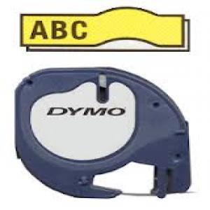 Cinta dymo tag 12x4 plastico amarillo