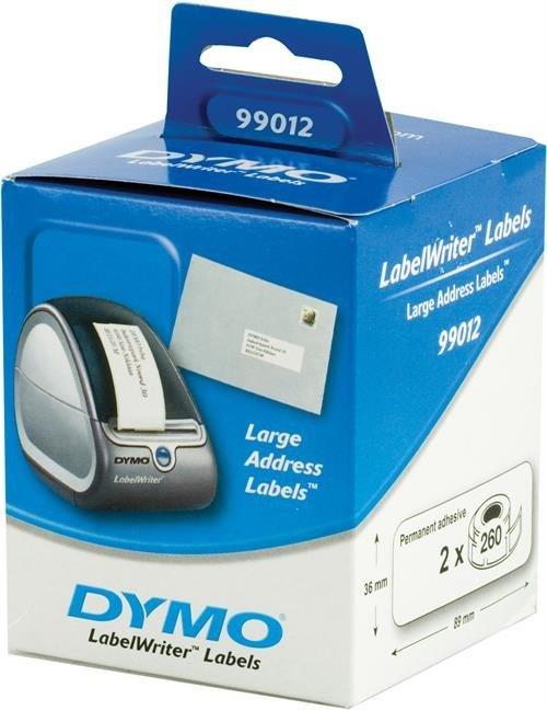 Cinta dymo labelwriter 36x89 2 rollos 99012